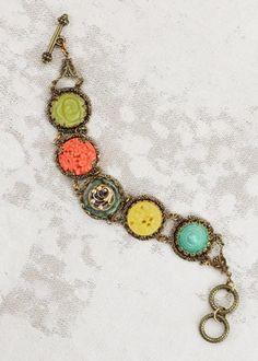 Tango Mango Bracelet from Grandmother's Buttons, $84