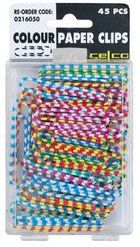Inkman.com.au - NOVELTY PAPER CLIPS - Extra Large Coloured Candy Striped - 45PK