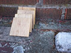 Oak Coasters by tablescrapcreations on Etsy, $16.00