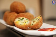 Cheese Corn Balls - Quick Easy To Make #Party #Appetizer Recipe By Ruchi Bharani.