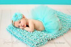 Aqua Tutu Set. Newborn Tutu Set. Infant Tutu Set. Baby Tutu Set. Tutu and Headband. Pageant Tutu. Newborn Tutu Photo Prop. Newborn Baby Tutu by ThePinkDaisyBoutique on Etsy https://www.etsy.com/listing/155166873/aqua-tutu-set-newborn-tutu-set-infant