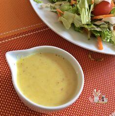 Molho de mostarda e mel, aquele toque especial para a salada.