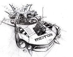 Car sketching for illustration | Car Design Education Tips