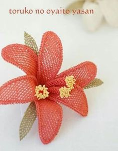 This Pin was discovered by İğn Handmade Flowers, Diy Flowers, Crochet Flowers, Needle Lace, Needle And Thread, Hairpin Lace, Bargello, Lace Making, String Art