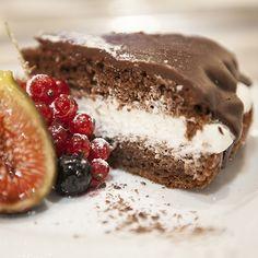 Un suave y ligero encuentro con el chocolate fresco (Emplatado) #food #picnic #recipe #dessert