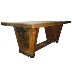 Sculptured Austrian Dining Table by Koloman Moser | From a unique collection of antique and modern dining room tables at http://www.1stdibs.com/furniture/tables/dining-room-tables/
