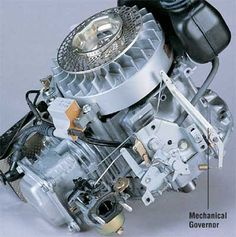 Small Engine Diagram | ... responds to the centrifugal force created by the engine's revolution