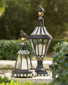 Lanterns by MacKenzie-Childs at Neiman Marcus.