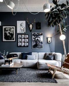 salon blanc deco gris mur deco salon gris blanc murYou can find Salons decor and more on our website Elegant Living Room, My Living Room, Interior Design Living Room, Living Room Designs, Living Room Decor, Small Living, Modern Living, Modern Interior, Modern Decor