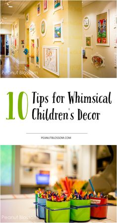 10 awesome ideas for kid friendly decor and making your home welcoming for the whole family based on a tour of St. Jude Children's Hospital. Check out the kids' art display, it's the best!