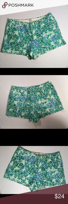 🌺CUTE MADEWELL SHORTS.  EYELET WITH POCKETS 🌺 🌺STYLISH EYELET MADEWELL SHORTS. TWO FLAT POCKETS IN THE FRONT AND TWO IN THE BACK. STILL SEWED DOWN. THESE BEAUTIFUL SHORTS ARE GREEN AND CREAM WITH A TOUCH OF BLUE. VERY CUTE AND UNIQUE. YOU ARE GOING TO LOVE ❤️ WEARING THESE ADORABLE SHORTS. MADEWELL Shorts