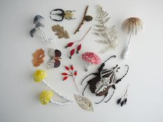 autumnal inspiration - collections of finds sculpted by artist Kate Kato.