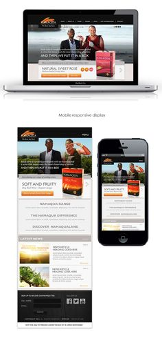 Namaqua Wines Responsive Website Concept by Yorkhill Creative // #UI #website #southafrica