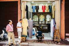 MEDINA CLOTHES SHOP - MARRAKECH, MOROCCO - AFRICA, TRAVEL REPORTAGE by MANUEL PALLHUBER - WWW.MANUELPALLHUBER.COM