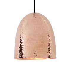 Original BTC Stanley Hammered Copper Pendant Light