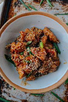 Sesame Chicken, by thewoksoflife.com @thewoksoflife