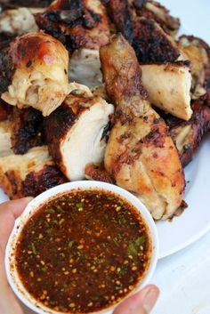 Authentic Thai Grilled Chicken (Gai Yang) ~ The gai yang is a super popular dish that is being sold on streets of Taiwan and that is so widely loved.