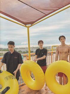 D.O, Baekhyun, Sehun - 190911 Fourth official photobook 'PRESENT ; the moment' Kaisoo, Chanbaek, Baekhyun Chanyeol, Exo Ot12, Exo Kai, Exo Album, Exo Lockscreen, Kpop Exo, Kris Wu