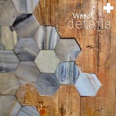 Tile work with wood