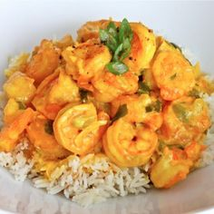 Creamy Turmeric Shrimp Recipe - try w coconut milk and dairy free butter
