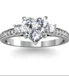 Collection featuring Tiffany & Co. Rings, Allurez Rings, and 10 other items Heart Shaped Diamond Ring, Heart Shaped Engagement Rings, Heart Wedding Rings, Gold Heart Ring, Unusual Engagement Rings, Heart Shaped Rings, Diamond Wedding Rings, Diamond Engagement Rings, Wedding Engagement