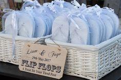 Wedding flip flops - dancing shoes