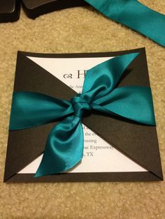 Wedding Invitation with Bow- easy to make