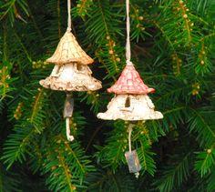 2 small ceramic bells wind chime