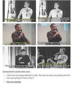 Mark Pellegrino defending Lucifer