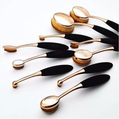 Gold Oval Brush 10pcs Set