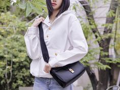 Introducing the Celine Teen Soft 16 - PurseBlog Latest Bags, Youth Culture, Famous Girls, Mens Fall, Girl Bands, Celine Bag, Black And Grey, Bomber Jacket, Vogue