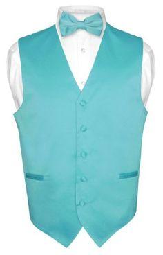 Men's Dress Vest BOWTie TURQUOISE AQUA BLUE Bow Tie Set for Suit or Tuxedo - http://www.rainbowclothingstore.org/mens-dress-vest-bowtie-turquoise-aqua-blue-bow-tie-set-for-suit-or-tuxedo/