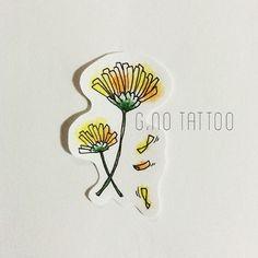 민들레꽃인가 봉가 오늘은 봄이 아니라 겨울이었어 ㅠㅠ #flower#dandelion#yellow#spring#cute#good#small#tattoo#design#민들레#꽃#노랑#봄#따뜻#하면#좋겠다