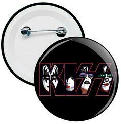 L026 - Botons e Chaveiros - Kiss - Wathsapp: (61) 9 9129-7213