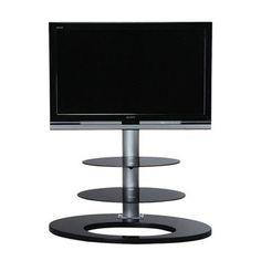 tv meubel ellipse00381 - universeel led tv ophangsysteem waarbij de tv wordt gemonteerd zonder fixatie op de muur. zowel links als rechts 20° draaibaar.