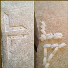 Quick tip:: Put ice on carpet to remove imprints from furniture!!