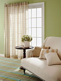 add a pop of color to your sliding doors with these great window treatment ideas - Curtains For Sliding Doors