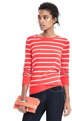 Merino Stripe Crew Outfits 2016, Pullover, Sweaters, Tops, Women, Fashion, Moda, Women's, Sweater