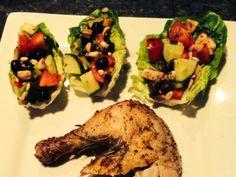 Roast Chicken & Salad Boats