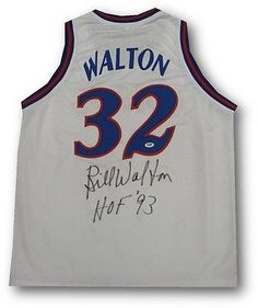 Bill Walton Signed Autographed Jersey Los Angeles Clippers HOF 93 White PSA/DNA