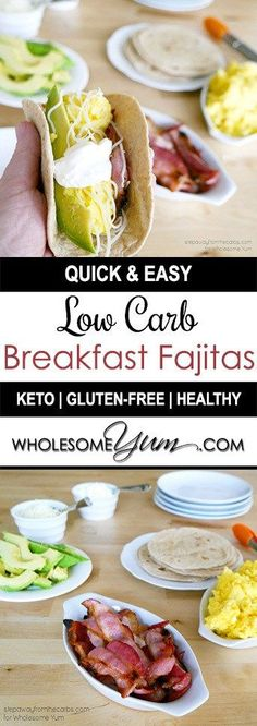 Breakfast Fajitas (Low Carb, Gluten-free) - This easy breakfast fajitas recipe comes together in just minutes! Low carb, keto, gluten-free, and easy to customize exactly how you like them.