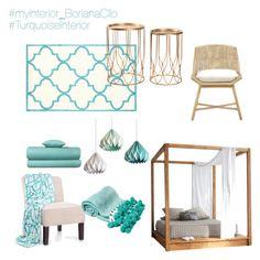 #TurquoiseInterior by borianacllo on Polyvore featuring interior, interiors, interior design, home, home decor, interior decorating,