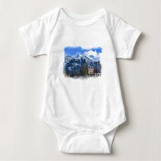 Mr Rundle and Hotel Banff Alta Canada Baby Bodysuit -nature diy customize sprecial design