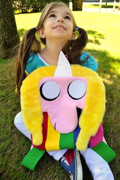 sew chibi: Who Sewed it Better? Lady Rainicorn from Adventure Time Backpack