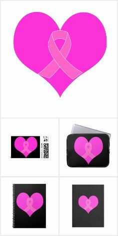 Heart and Ribbon Breast Cancer Charity Design! Link: https://www.zazzle.com/thrillsocietycharity #charity #breastcancer #cancer #cancersucks #pinkribbon #breastcancersucks