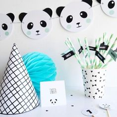 Image of PANDA PARTY Panda Party, Panda Birthday Party, Birthday Favors, Baby Birthday, Girl Birthday Decorations, Kids Party Decorations, Baby Shower Decorations, Party Themes, Party Ideas