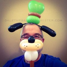 Goofy Hairband/muzzle on a stick combo inspired by Jeff Hayes & Carl Skenes.