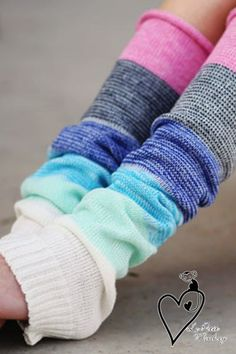 Multi Color Leg Warmers Fall Fashion Accessory by LePetitMonkey, $19.99