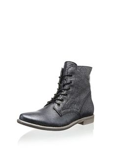 50% OFF Manas Women's Lace-Up Boot (Nero)