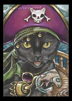 Pirate cat on Pinterest   Pirates, Cats and Art Prints